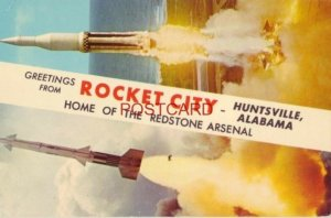 GREETINGS FROM ROCKET CITY - HUNTSVILLE, ALABAMA Home of the Redstone Arsenal