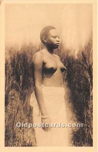 Ruanda Jeune Femme, Young Woman African Nude Unused