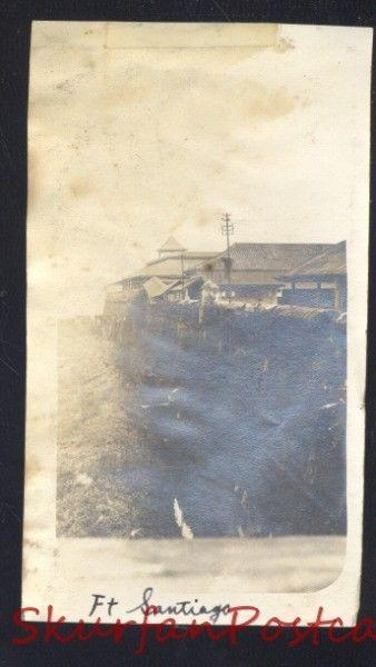 REAL PHOTO PHOTOGRAPH WWI ERA FORT SANTIAGO MINILA PHILIPPINES