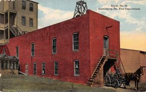 Harrisburg Pennsylvania Fire Department Antique Postcard J39140