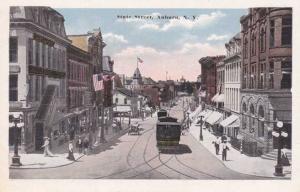 Trolley on State Street - Auburn NY, New York - WB