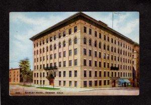 CO Shirley Hotel Denver Colorado Postcard Vintage Postcard