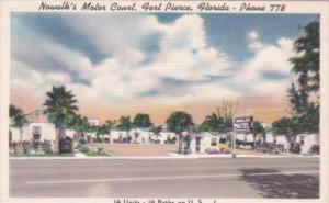 Florida Fort Pierce Nowalk's Motor Court 1953