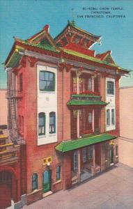 Kong Chow Temple Chinatown San Francisco California