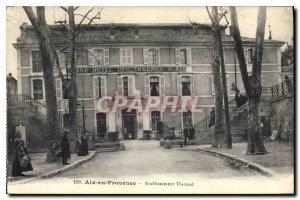 Old Postcard Aix en Provence Spa Establishment