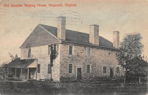 LPS50 Hopewell Virginia Old Quaker Meeting House Postcard Hand Colored