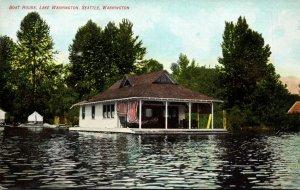 Washington Seattle Lake Washington Boat House