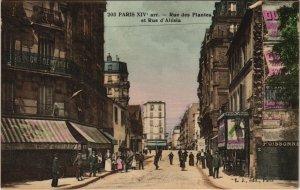 CPA PARIS 14e - 203. Rue des Plantes et Rue d'Alésia (56395)