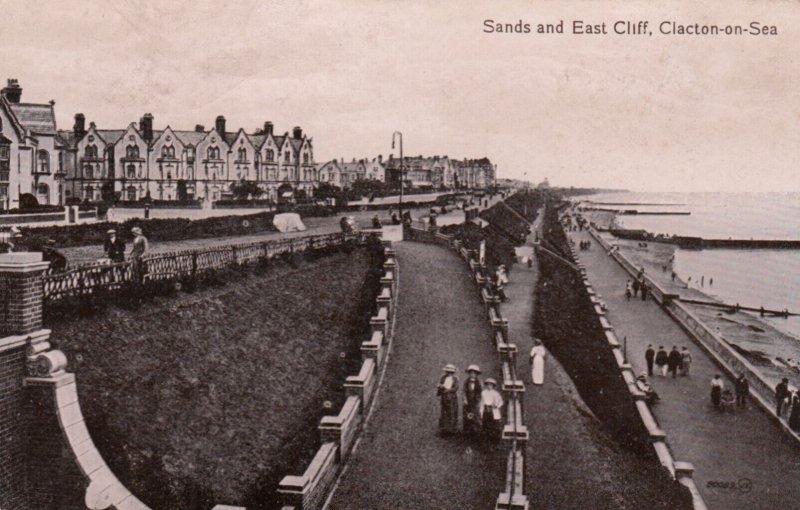 CLACTON ON SEA , England , 1916 ; Sands & east Cliff
