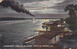 Moonlight View on Illinois River , Havana , Illinois  , 00-10s