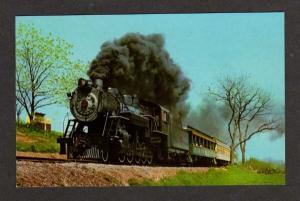 PA STRASBURG Railroad Train PENN Groff's Grove Postcard Pennsylvania