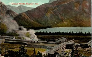 Exshaw Alberta Canada Cement Works Postcard used 1900s/10s
