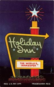 New Port Richey Florida~Holiday Inn Entrance Sign The World's Innkeeper~1960s