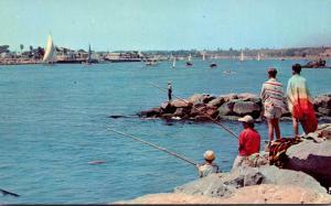 California Entrance To Newport Harbor Fishing Scene