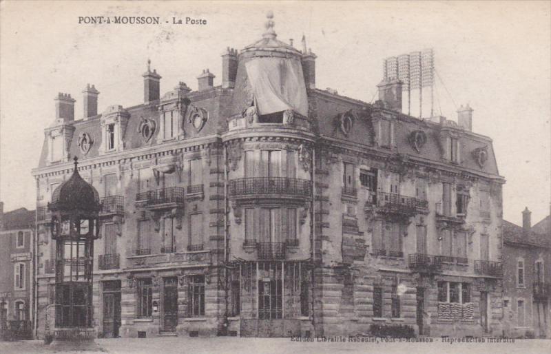 PONT A MOUSSON, France, 1900-1910's; La Poste