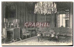 Old Postcard Chateau De Rambouillet Cabinet Work Salon Du President Of King C...