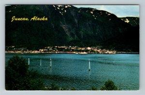Juneau AK-Alaska, Situated on Gastineau Channel, Tongass Forest Chrome Postcard