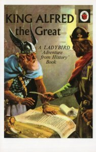 King Alfred The Great First Edition Ladybird Book Postcard