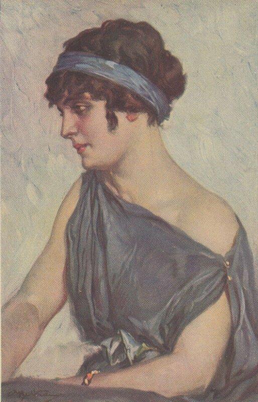 Woman portrait , 1900-10s ; #37A ; Artist A Beltrane