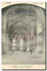 Old Postcard Avignon Palace of the Popes Chapel High Consistory