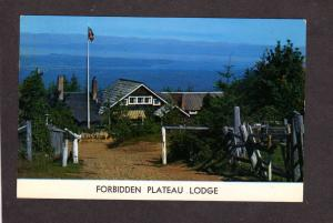 BC Courtenay British Columbia Forbidden Plateau Lodge Postcard Carte Postale