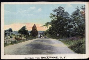 New York Greetings from ROCKWOOD - pm1922 - White Border