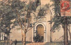 Liege Belgium Tunsie Pavilion Street View Antique Postcard K96821
