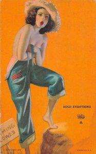 Pin Up Girl Hold Everything Earl Moran Mutoscope Arcade Card AA34856
