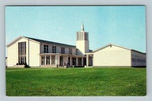 Dover Air Force Base Chapel, Vintage Dover Delaware Postcard