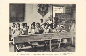 Interior- School, Une Classe Chez Les Soeurs Bleues De Castres, Gabon, Afri...