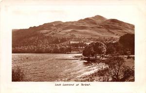 Scotland, UK Old Vintage Antique Post Card Loch Lomond at Tarbet Unused