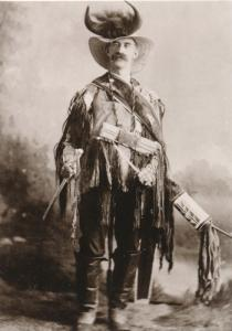 Miles City Montana Newspaper Man Wearing Indian Items - Western USA Recent Print