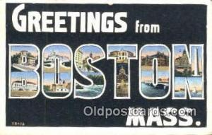 Boston, Mass USA Large Letter Town Vintage Postcard Old Post Card Antique Pos...