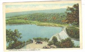 Scenic view,Lake Gordon,Water Supply,Cumberland,Maryland,30-40s