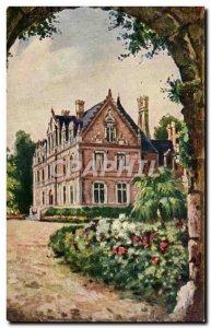 Old Postcard Chateau Montlouis