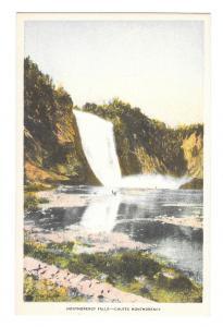 Canada Chutes Montmorency Falls Quebec Vintage Waterfall Postcard