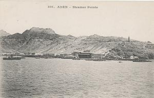 Yemen Aden steamer point early postcard