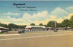 TN, Nashville, Tennessee, Bazeman's Court and Restaurant, Curteich No. 8B-H718