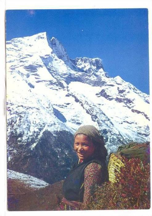 Faces Of Nepal, Sherpa Girl, Nepal, Asia, 1950-1970s