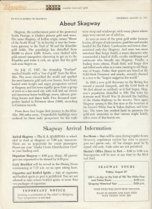 S.S. Mariposa , JUNEAU to SKAGWAY, 1971 ; The Polynesian Newsletter