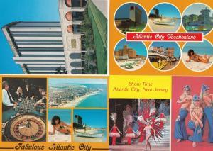 Atlantic City Caesars Palace Roulette Table 4x Postcard s