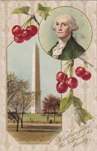 George Washington With Washington Monument 1909