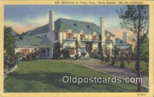 Fanny Brice, Baby Snooks, Bel Air, CA Movie Star Actress, Unused