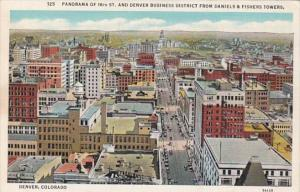 Colorado Denver Panorama Of 16th Street & Business District From Daniels ...