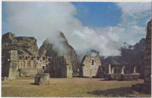 Machupicchu, Peru, Sacred Plaza and Temple of the 3 Windows, unused Postcard