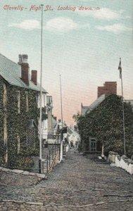 CLOVELLY , Devon , England , 1900-10s ; High Street ; Looking Down ; Ver-2