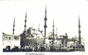 Real Photo, Constantinople, Turkey Postcard Post Card, Kart Postal, Carte Pos...