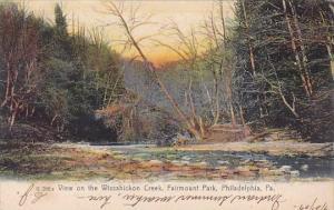 View On The Wissahickon Creek Fairmount Park Philadelphia Pennsylvania 1907