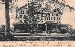 Hawkhurst Hotel, Litchfield, Connecticut, Early Postcard, Used in 1908
