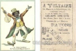 A. Voltaire Trade Card Approx Size Inches = 2.75 x 4 Unused light wear on bac...